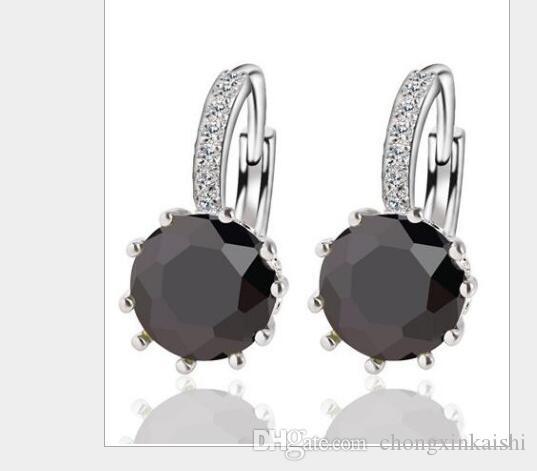 20 шт. Горячая Мода женщин Европы и Америки Кристалл циркон уха уха. Металлические серьги женщины Серьги