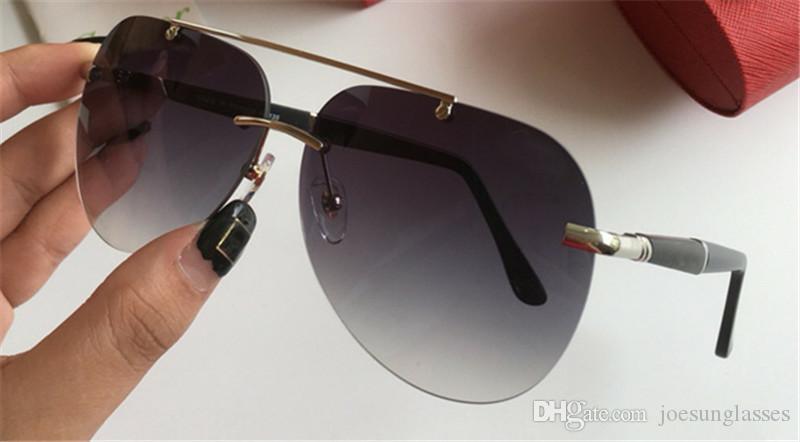 New Fashion Designer Sunglasses 8200777 Frameless Pilot Frame Popular  Avant-garde Style Top Quality Uv400 Protection Eyewear BRAND SUNGLASSES  Sunglasses for ... f6f3e67a6f