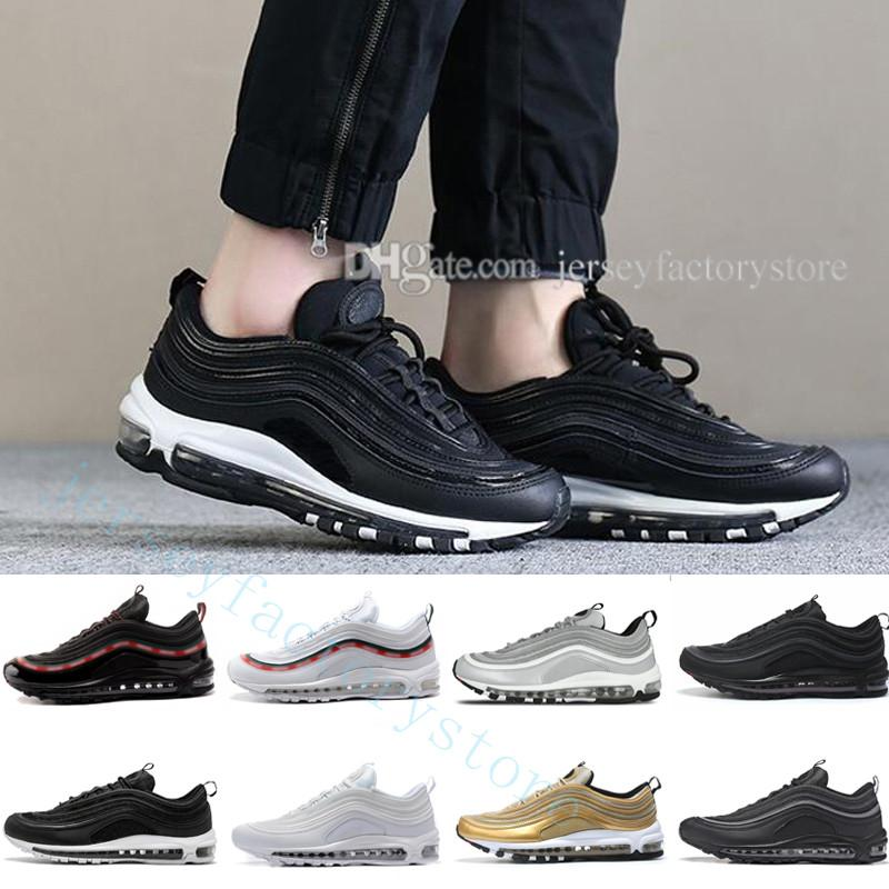 97s mens Running Shoes 97 OG Metallic Gold Silver Bullet Triple Black ALL White 3M PRM Men Women Sneakers sports shoes clearance finishline discount from china extremely sale online outlet discount with paypal GxOO4F