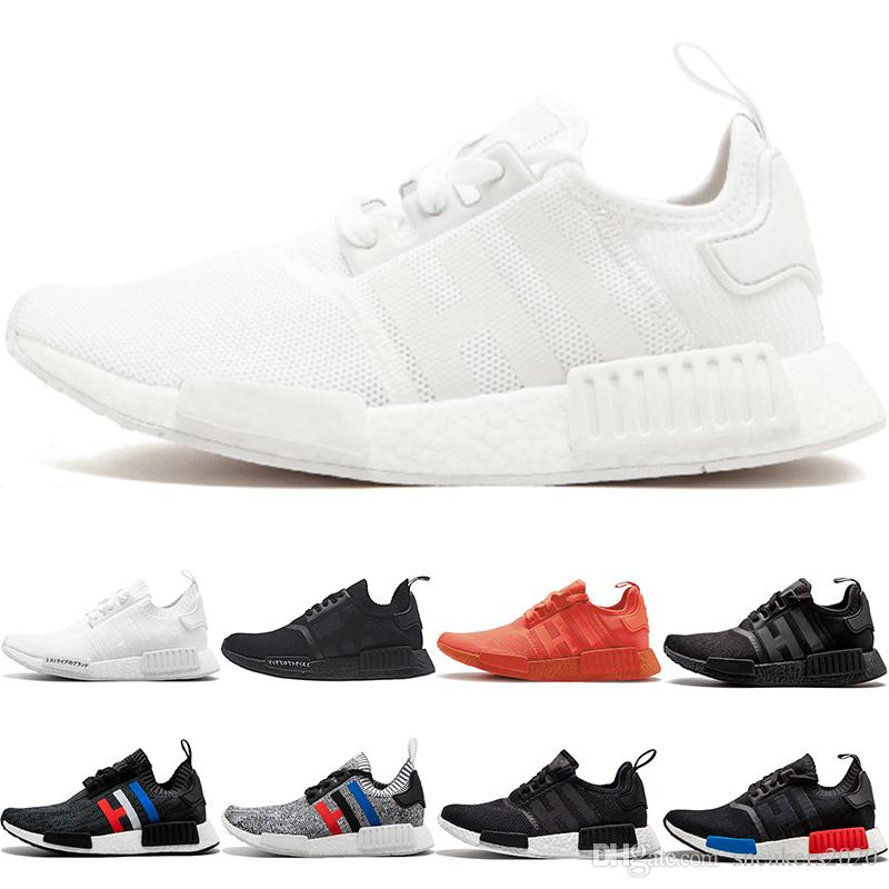 e0762c2b5d132 2019 Wholesale NMD R1 Running Shoes OG Japan Triple Black White Solar Red  Oreo Cheap Men Women Designer Trainers Sports Sneaker Size 36 45 From  Sneakers2020 ...