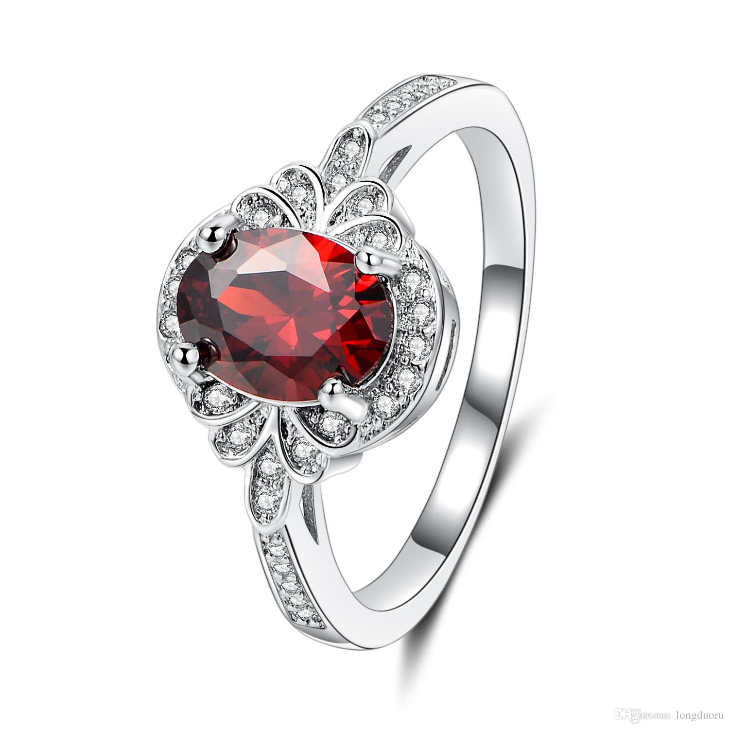 21941a9aedb1b 2018 new products European and American fashion foreign trade violence  style jewelry colored zircon - plated platinum ring JZ35