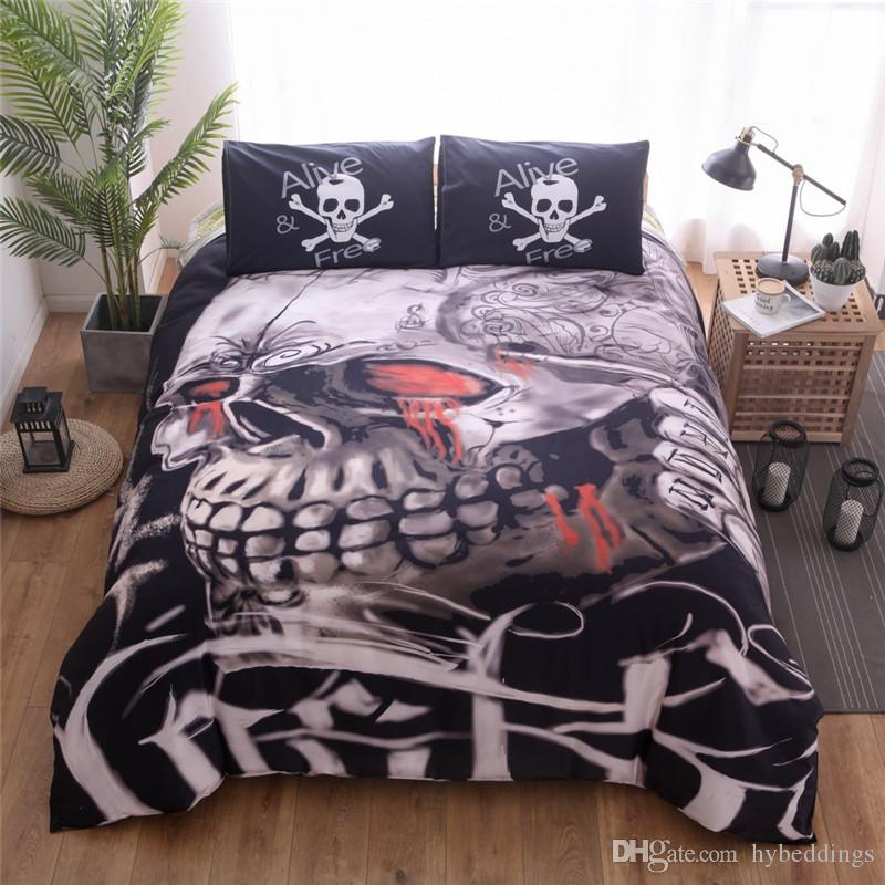 3d game skull bedding set halloween skulls duvet cover pillowcases alive free twin queen king size 2bedlinen drop shipping sheets and bedding clearance