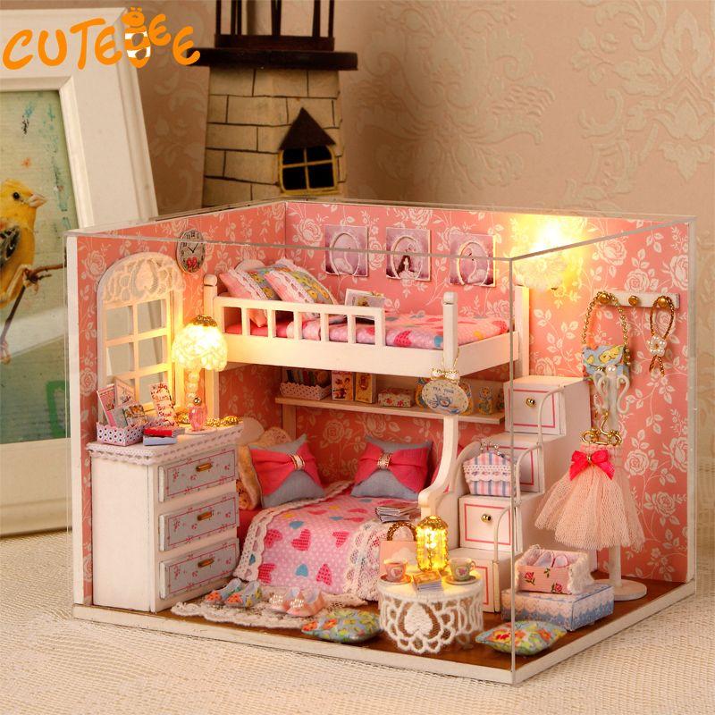 Handmade Doll House Furniture Miniatura Diy Doll Houses Miniature Dollhouse  Wooden Toys For Children Grownups Birthday Gift H06 Plastic Dollhouse  Furniture ...