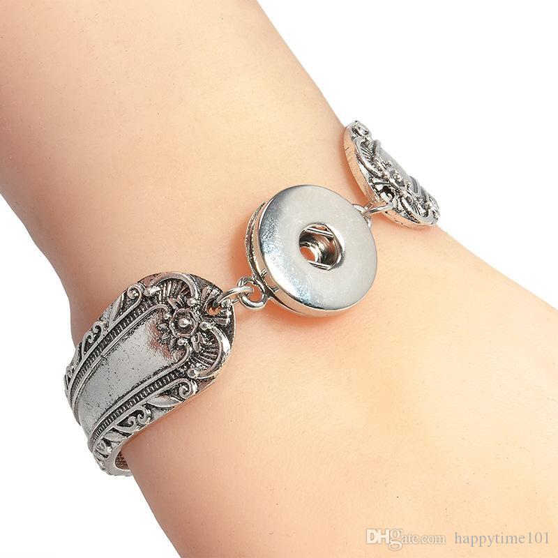 Noosa Snap Button Braccialetti Magnetic Clasp Noosa Chunks Snap Bracelet Fit 18MM Button Intercambiabile Gioielli con bottone a pressione