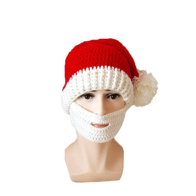 93630a4fbe03e 2019 Christmas Winter Knitted Crochet Beanies Santa Hats New Design  Foldaway Bearded Caps Fashion Winter Hats From Bingquanwat