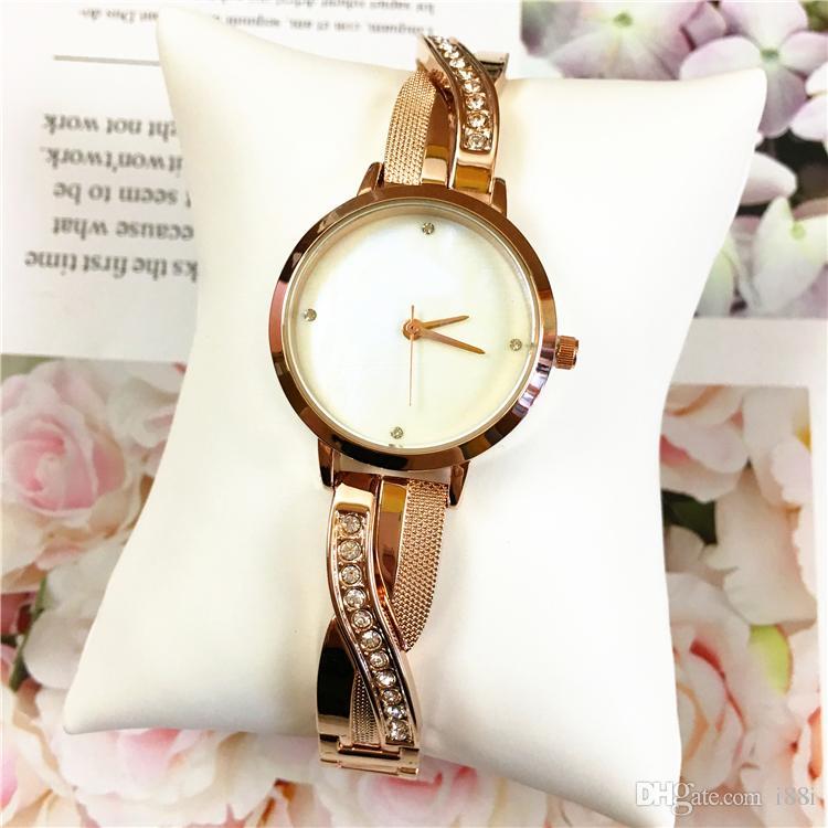 d7ded5afd332 Compre Reloj De Lujo Mujer Relógios De Luxo Pulsera De Acero De Oro Rosa De  Alta Calidad Aaa Joyería De Moda Noble Mujer Noble Regalo De Navidad De  Cuarzo ...