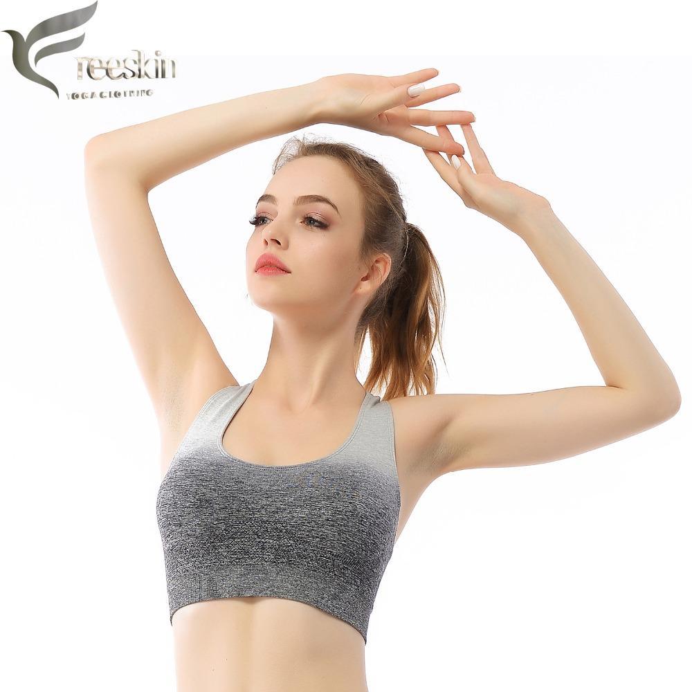 043e074e45a Freeskin Women Yoga Bra Sports Bra Plus Size Yoga Padded Mujer ...