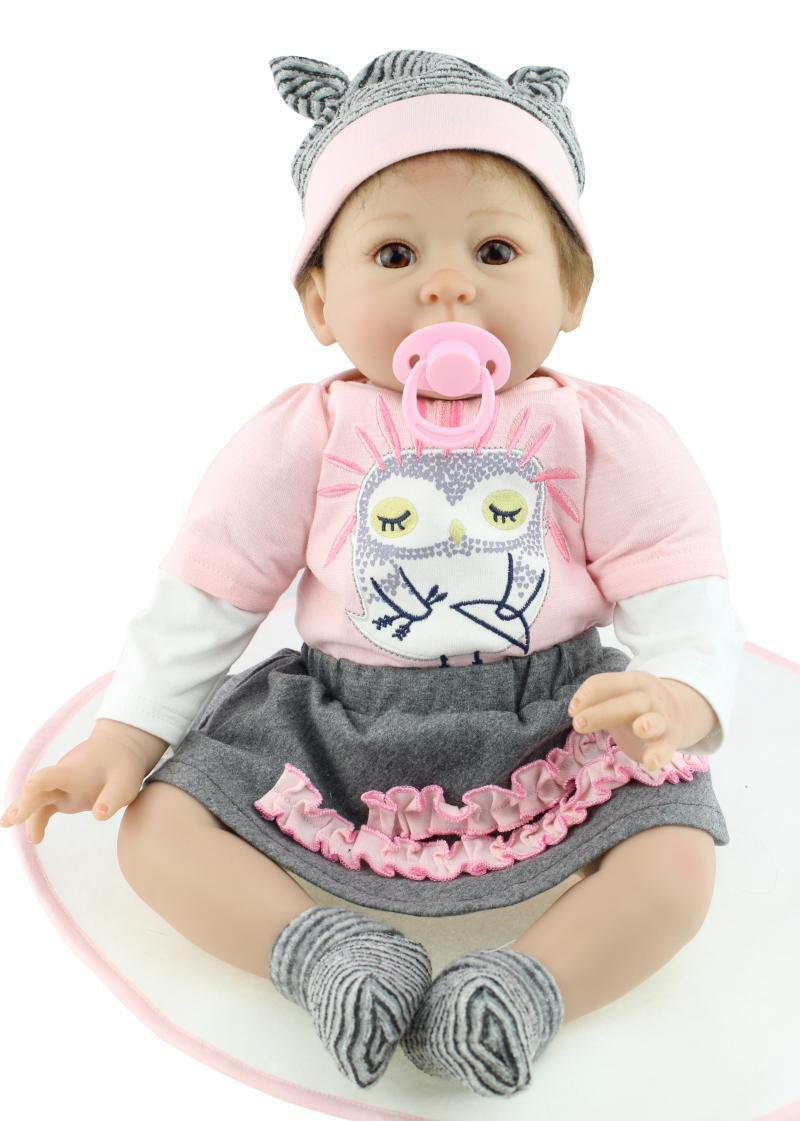 Wholesale 22 55cm Soft Silicone Reborn Baby Alive Vinyl Lifelike Newborn  Girl Doll Kits For Women Nursery Treats Kids Gift Toy Collectible Doll  Plastic ... f0ddb1722a80