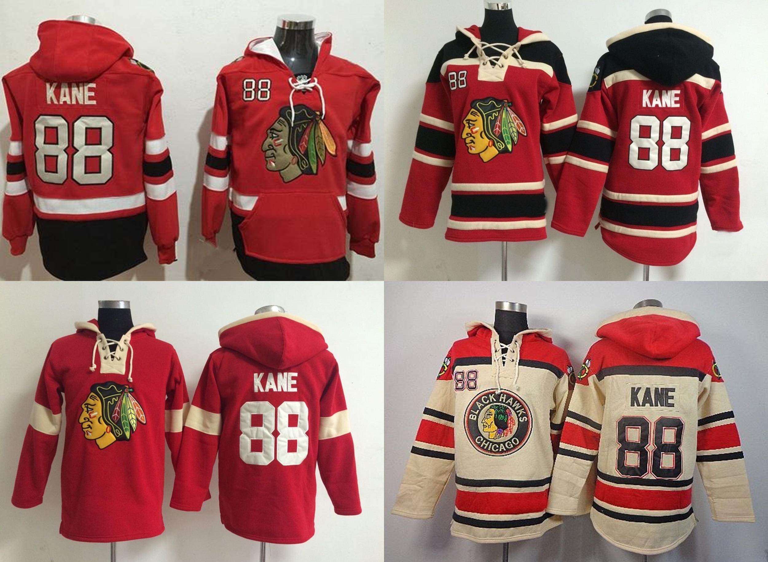 a88023fe2f4 2019 2015 Chicago Blackhawks Hoodies Mens  88 Patrick Kane Red Beige Ice  Hockey Hoddlies Sport Jerseys S 3XL