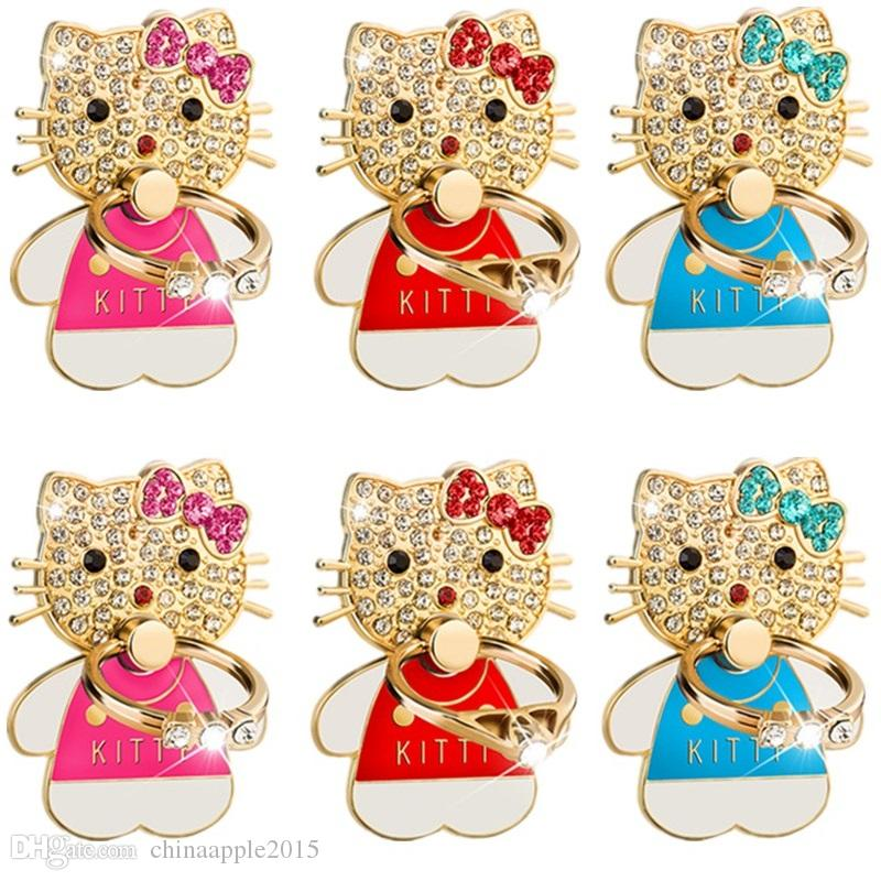 b28ffe98b 2019 Fashion Finger Ring Holder Mobile Phone Stand Hello Kitty Stents  Bracket For Iphone 7 8 X Xr Xs Samsung S8 S9 Htc Android Phone From  Chinaapple2015, ...