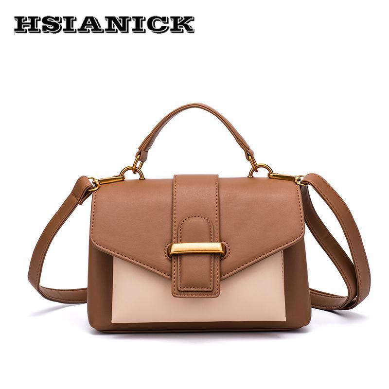 7a7d31e770a4 Hit Color Hot Small Square Handbag Women 2018 New Design PU Leather Fashion  Shoulder Bag Messenger Bag Female Simple Handbag Satchel Handbags Ladies  Purses ...