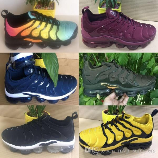 [With Box] Vapormax TN Plus VM Olive In Metallic White Silver Colorways Men Shoes For Running Male Shoe Pack Triple Black Mens Shoes clearance big sale qgjrHf