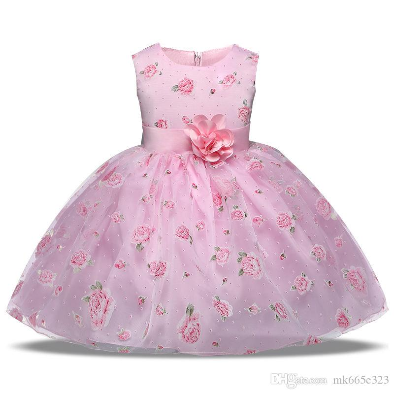 0816825417c Baby Girls Summer Flower Big Bow Children Sleeveless Princess Dress Kids  Clothing Wedding Birthday Party Clothes Baby Girls Clothes Dress Girls  Flower Bow ...