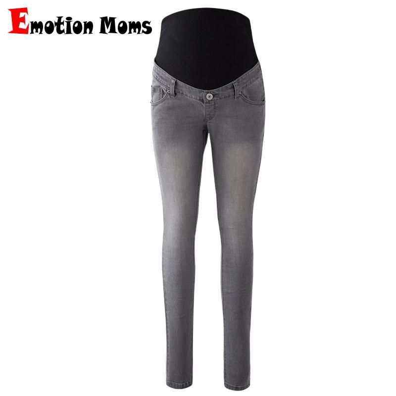 b2c1560a8d6 Emotion Moms Womens Maternity Jeans Pants For Pregnant Women Nursing  Trousers Pregnancy Overalls Denim Long Prop Belly Legging