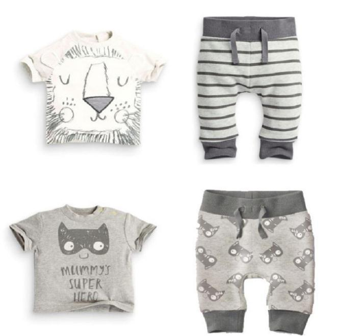 New 2pcs Clothing Set Girl Pants Blouse Summer Clothing for Newborns Baby Sets Boy Cotton Little Monster Boys clothes set