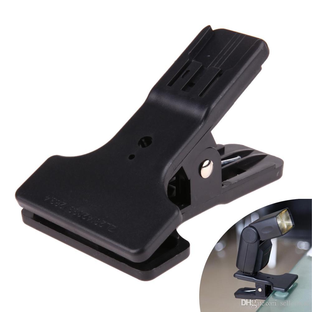 Hotshoe Clip Clamp Mount for Canon Nikon YongNuo Flash Speedlite Light LED Video light Table Mini Stand Holder for Flash