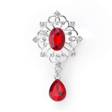 ba630cd591 MISANANRYNE Vintage Waterdrop Crown Brooch Rhinestone Crystal Women Bridal  Wedding Brooch Pin Party Jewelry Mujer Bijoux Gift