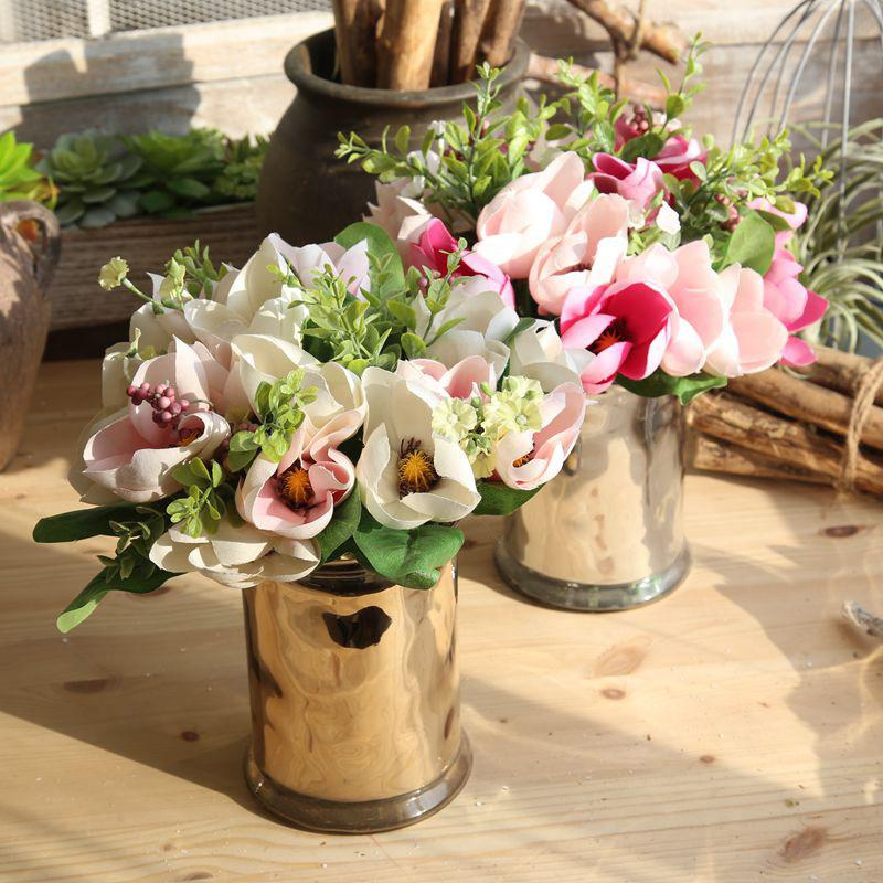 2018 bouquet magnolia artificial silk flower wedding table 2018 bouquet magnolia artificial silk flower wedding table decoration flowers christmas gift fake plant from jiuchuantrade 1508 dhgate mightylinksfo