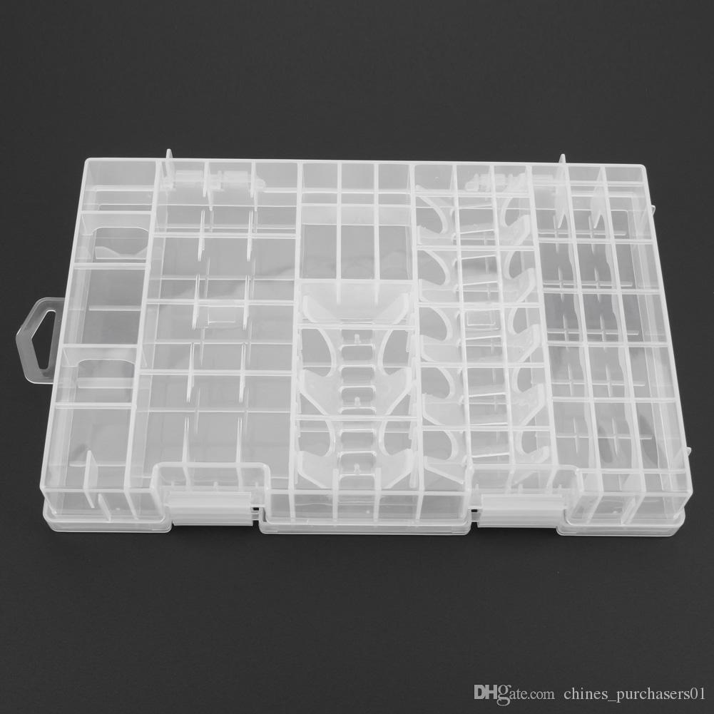 Plastic Transparent AA AAA C D 9V Battery Storage Case Box Battery Holder Case Container Big Size Battery Organizer AMI-144