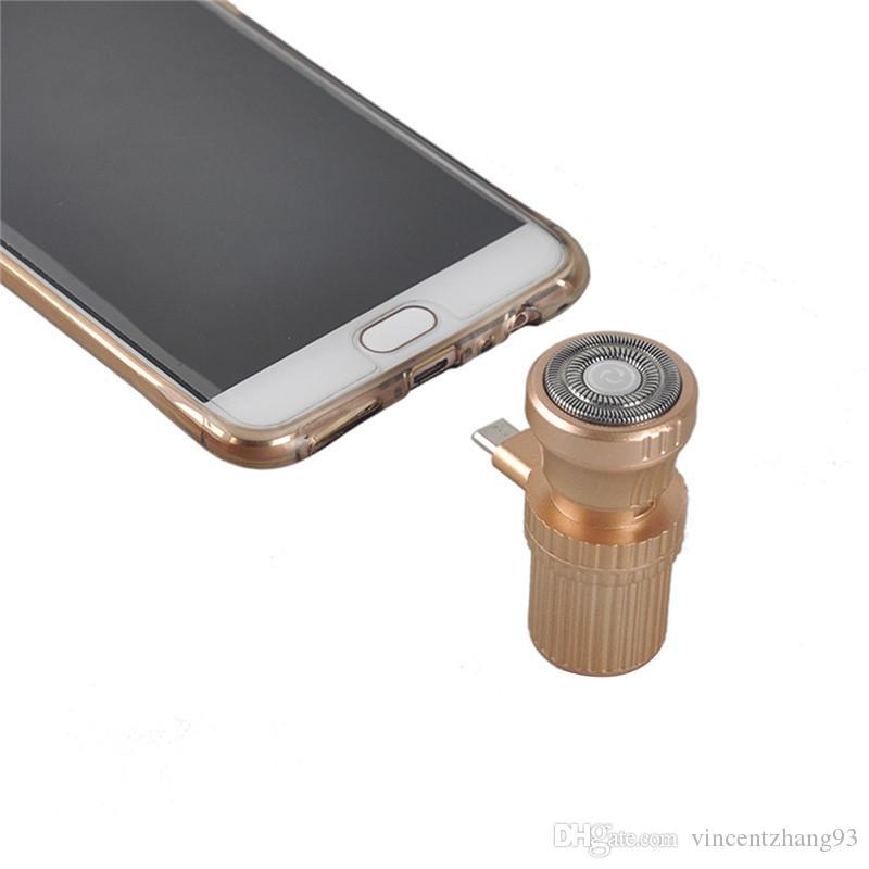 ميني USB الحلاقة الحلاقة السفر المحمولة في الهواء الطلق الحلاقة ملحقات الهاتف الخليوي لفون / أندرويد