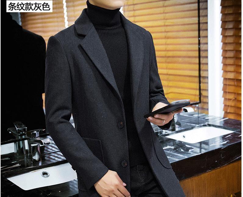 Großhandel Winter Wollmantel, Herren Double Face Cashmere Neon Mantel,  Lange Jugend, Koreanische Version, Englische Windjacke. Von Zhr1997,  8.13  Auf De. 7fe159d3df