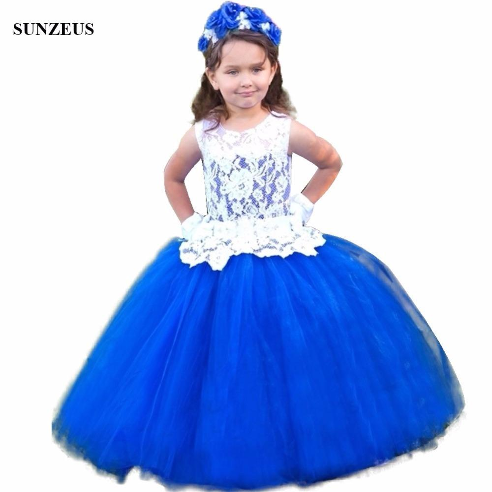 Ball gown dropped waistline royal blue flower girl dress with lace ball gown dropped waistline royal blue flower girl dress with lace bodice beaded sash long children party dress tulle flg037 flower girl dress shop flower izmirmasajfo