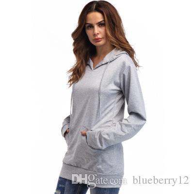 Solid Women Loose Sweatshirts Simply Hooded Hoodies Slim Fit Outwear Thin Pure Cotton Causal Top Clothing