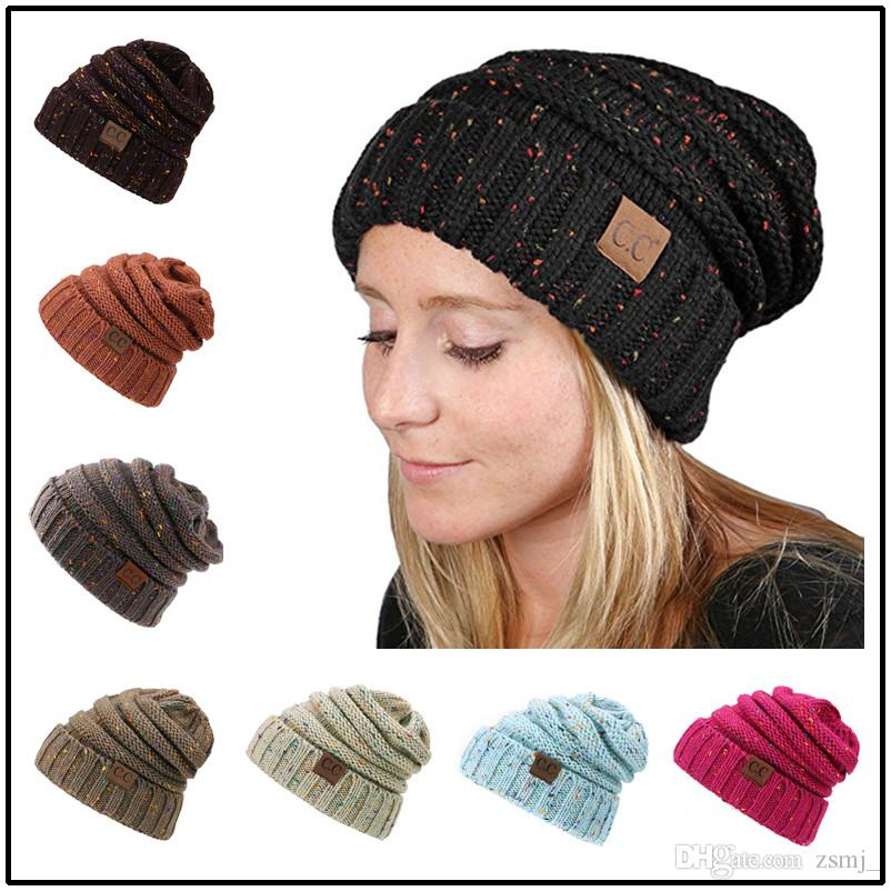 dd97630c69a Fashion CC Hats Chunky Knitted Beanies 14 Mixed Colors Winter Warm Men  Women Stretchy Skully Caps Hair Accs 1st Birthday Party Supplies 21  Birthday Hat From ...