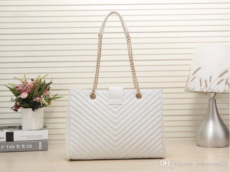 884f28b714 2018 New Design Women s Bag Stripe Handbag Handbags Shoulder Chain ...