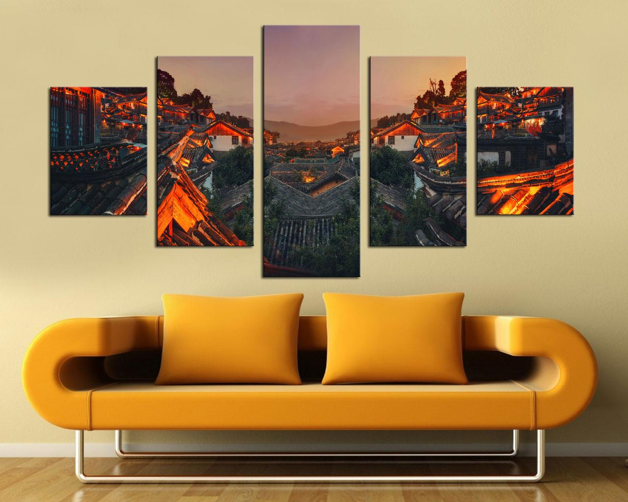 2018 Original New Home Decor Art Hd Print Landscape Oil Painting ...