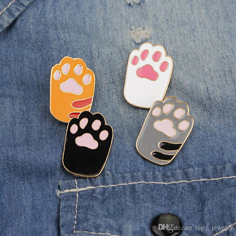 2018 Cute Cat Paw Print Lapel Pin Pet Footprint Animal Lover Brooch Gift  For Him Tie Tack Dog Lover Unisex Brooches Pin Jewelry Wholesale From  Top__jewelry, ...