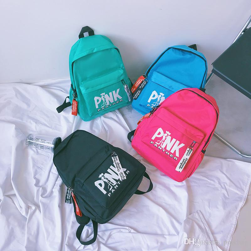 The Pink Backpack Casual Backpacks Teenager Student Schoolbag VS Travel Bags 4 colors In Stock Fast Shipping