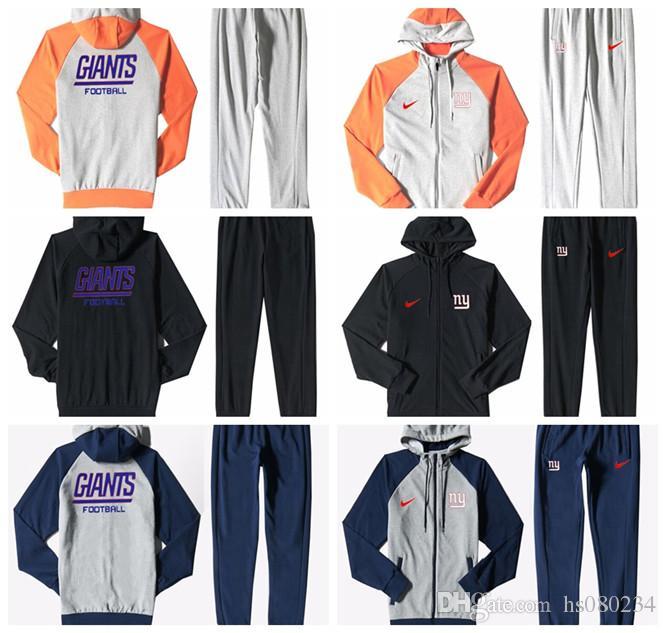 half off b24f7 9f24f New York Giants Men'S Print Full Zip Sportswear Men'S Sport Suit Bodysuit  Plus Pantsuit Blue Ash Black Orange white splicing