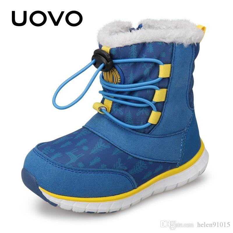 4b59929fab6d UOVO 2018 Snow Boots Kids Winter Boots Boys Waterproof Shoes Fashion Warm  Baby Boots For Boys Toddler Footwear Size 23  30  Kids Cowgirl Boots On  Sale Girls ...