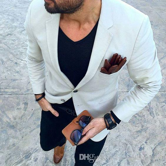 Beige 2018 Custom Made Men Suits Casual Business Suit Wedding Suits Bridegroom Best Man Tailored Tuxedo Terno Masculino Jacket+Pant