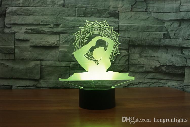 Visualisation 7 Lampe Veilleuse Yoga 3d La De Illusion Pour Couleurs Incroyable Led Avec Optique Décoration Maison Changeantes rWCxdoQeB