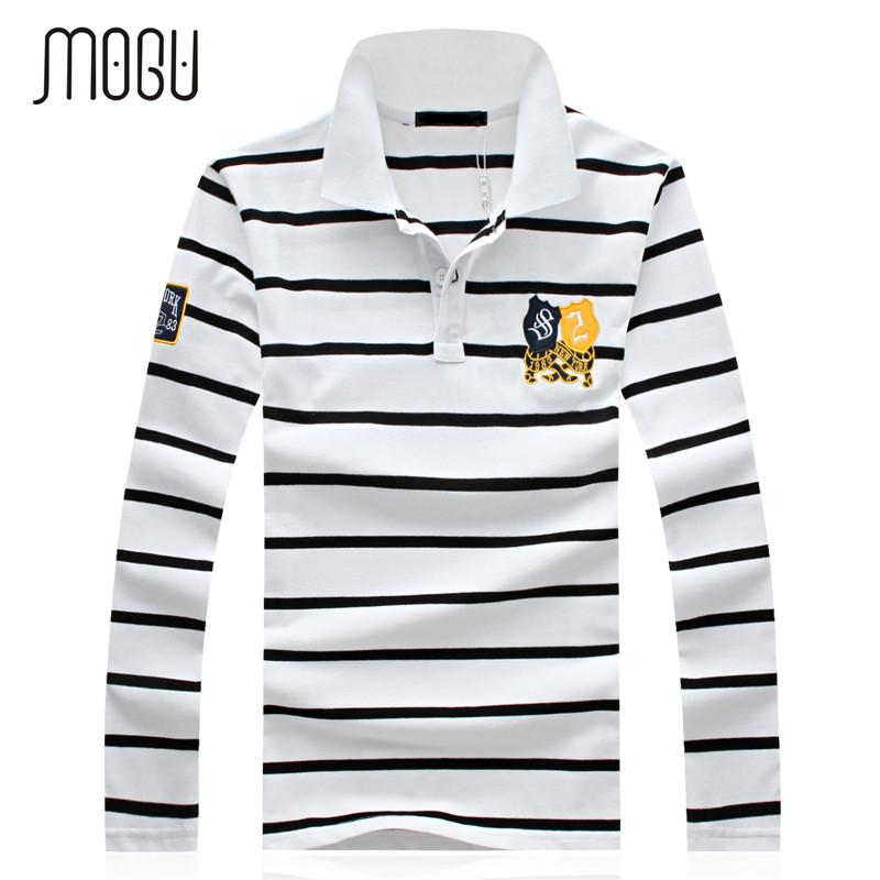 Compre Mogu 2017 Primavera Outono Longo Manga Camisa Polo Homens Moda  Stripe Polo Men Turn Down Collar Camisa De Manga Longa Plus Size 4xl 5xl De  Netecool 8613088594145