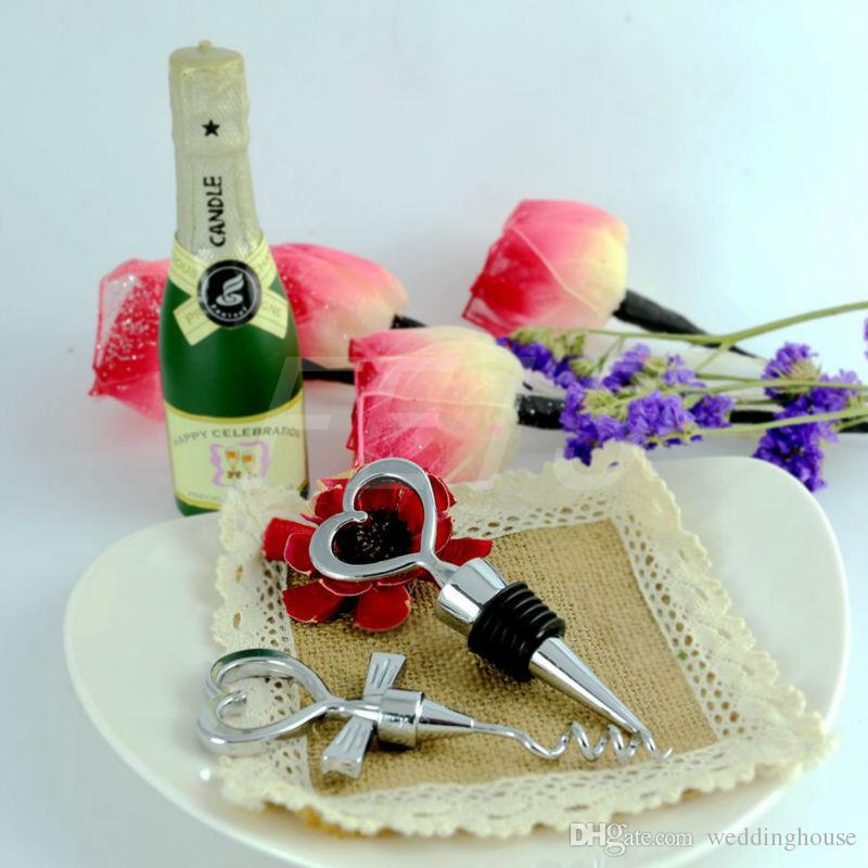 Hotsale Feis بالجملة 2 قطع على شكل قلب فتاحة زجاجة وزجاجة سدادة الزفاف الإحسان هدايا الزفاف مطبخ الموردين