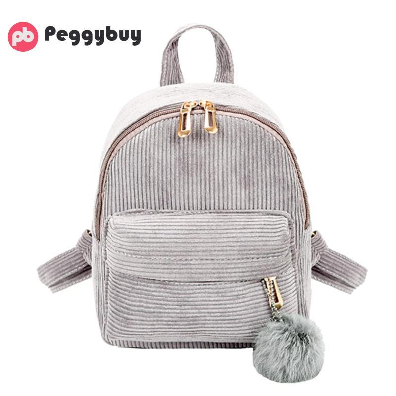 Vintage Travel Backpacks Women Girls Mini Corduroy Backpacks Shoulder  Schoolbag Cute Retro Casual Zipper Travel Bag Soft Mochila College Backpacks  Girl ...