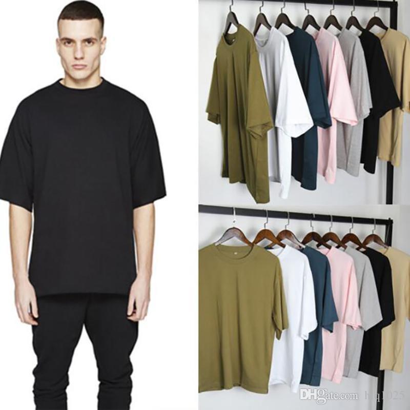 441083ba7 Kanye West Oversized T Shirt Cotton Drop Shoulder Streetwear Men Women Hip  Hop Pink Harajuku Rock Tees Tops Swag Clothes T Shirts With Prints Humorous  ...