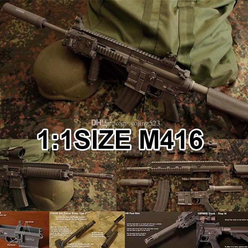 D Paper Model M Gun Paper Model Sniper Rifle Gun Manual Model Cant Not Fire Bullets Cm From Young Dhgate Com