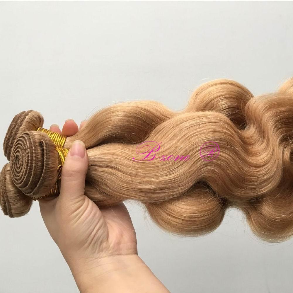 Brezilyalı Vücut Dalga Saç Örgüleri 27 Bal Sarışın Saç Uzantıları Virgin İnsan Saç Atkı Çift Atkı 3 adet / grup Üst Sınıf
