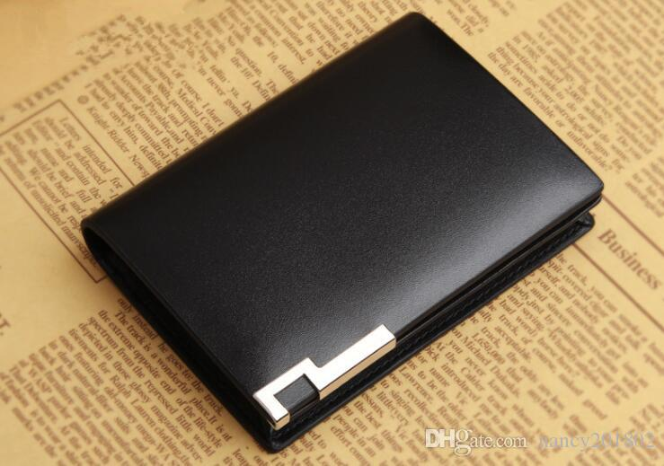 wholesale Luxury Fashion Genuine Leather card Wallets men credit card holders women card&ID holder male organizer Business card holder