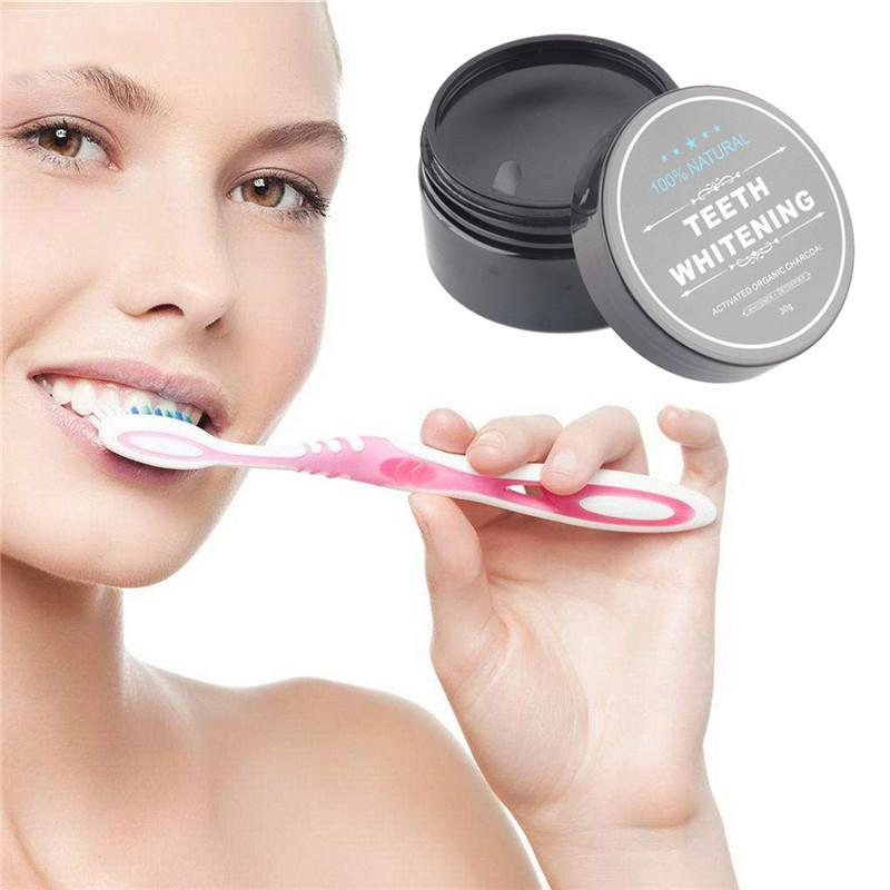 Tooth Whitening Nature Bamboo Activated Charcoal Smile Powder