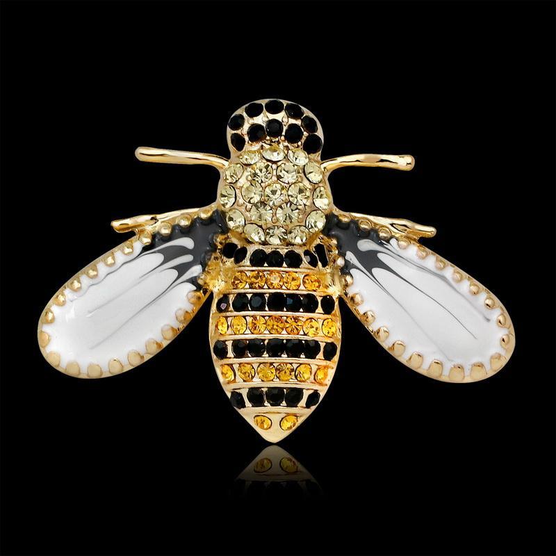 Kadınlar için yeni Varış 2018 kristal sarı arı Broşlar Moda renkli Broş Sevimli Broş Pin Iyi Hediye Broş Pin Ücretsiz nakliye