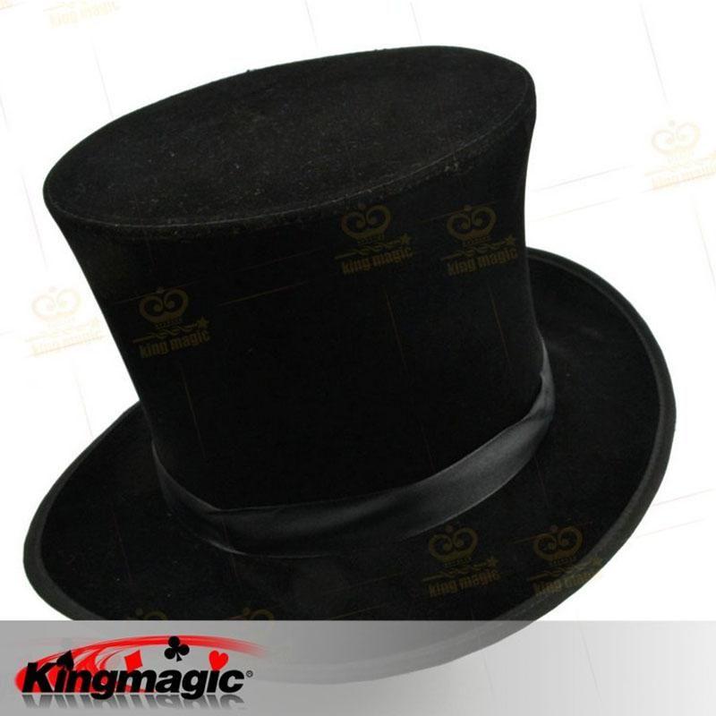 1fd1ba08fa2be Wholesale- Folding Top Hat Black Magician's Hat Magic Props Tricks ...