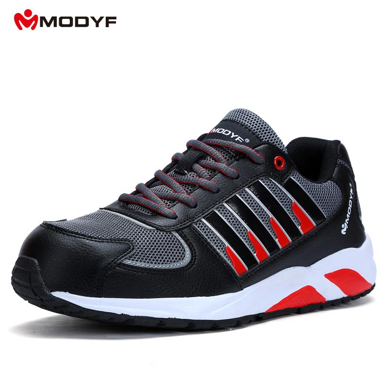 Modyf Men Steel Toe Cap Work Safety Shoes Outdoor Ankle Boots Fashion Puncture Proof Footwear Online Shop Work & Safety Boots Men's Boots