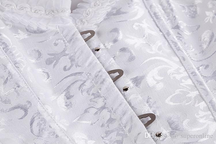 Schwarz und Weiß Stahl Knochen S 3XLWomen Former Taille Ausbildung Trimmer Korsetts XXXL Plus Größe Korsett Unterbrust mit Unterwäsche Korsetts Bustiers