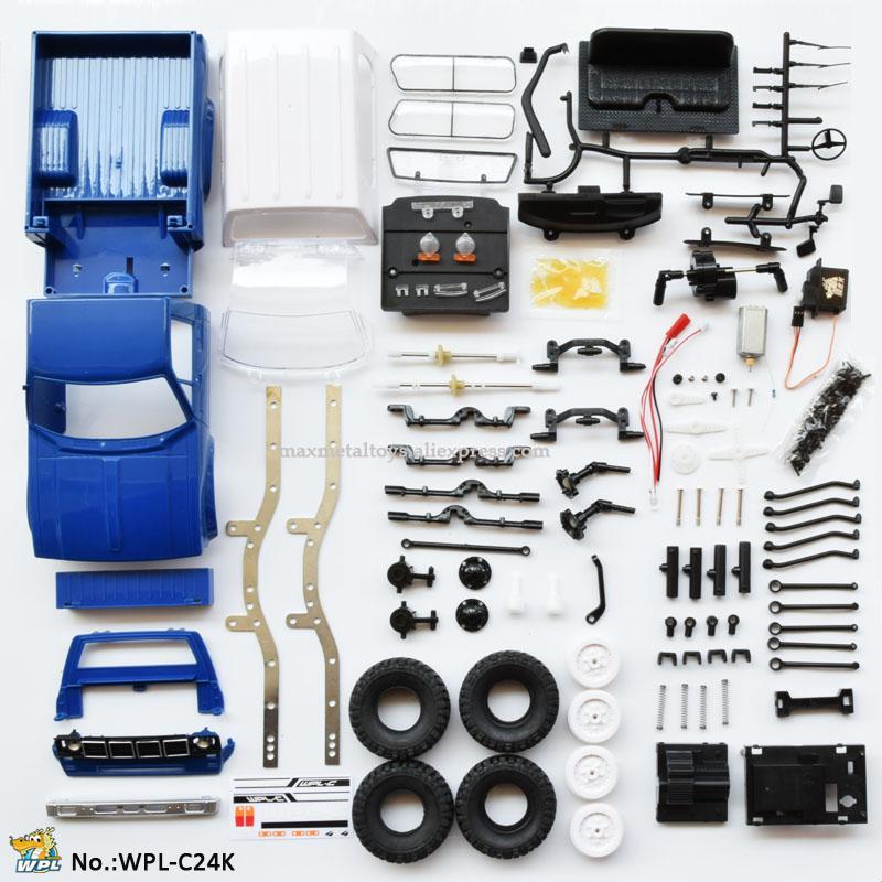 Wpl C24 Rc Turck 116 Car Kit Diy Remote Control Car 24g Rc Crawler