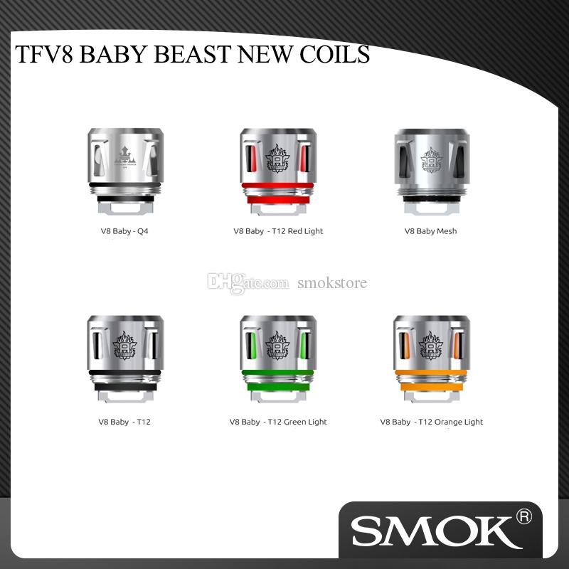 Аутентичные Смок TFV8 РЕБЕНОК BEAST NEW COILS V8 Детские Q4 / T12 / Mesh / полоса Coil / T12 Light Coil Хед Для TFV12 младенца Принц Tank